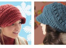 Slouchy Peaked Crochet Hat | thecrochetspace.com