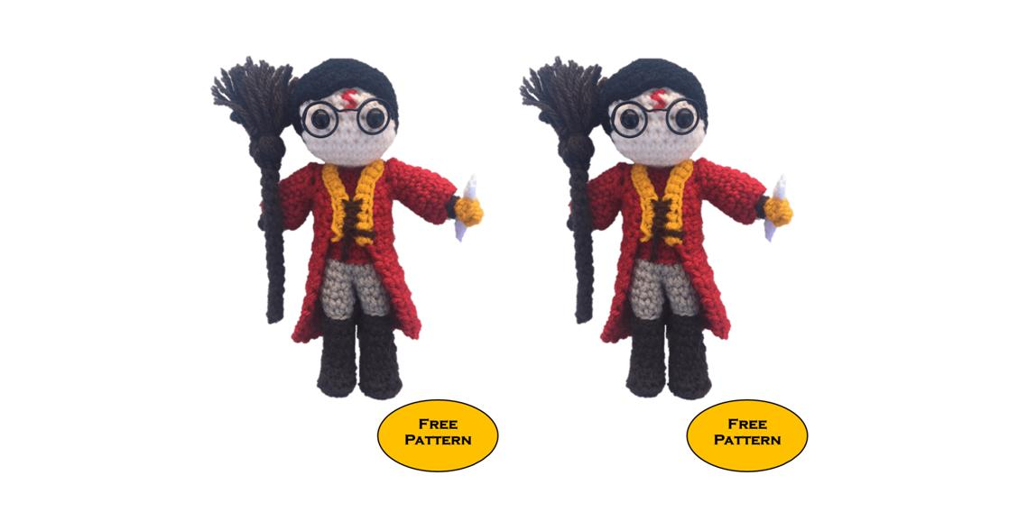 Ravelry: Harry Potter Amigurumi pattern by Mariana Chaves | 568x1128
