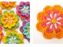 Crochet Blooming Flower Pattern | thecrochetspace.com