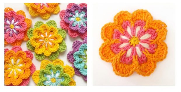 Crochet Blooming Flower Pattern   thecrochetspace.com