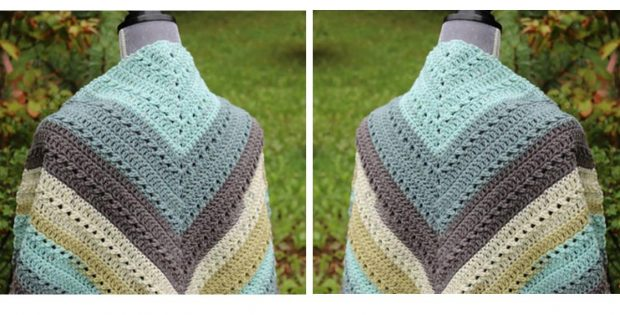 Simple Crochet Prayer Shawl | thecrochetspace.com