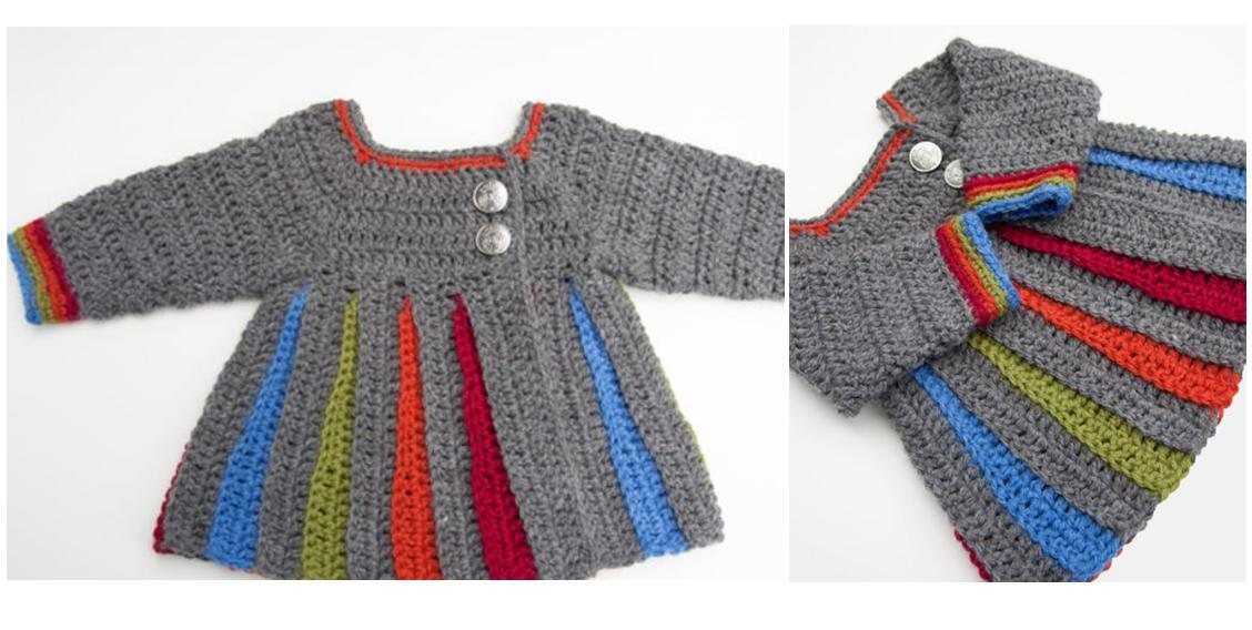 Eloise Baby Crochet Sweater | thecrochetspace.com