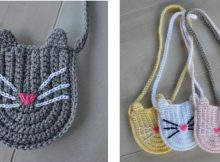 Kitty Cat Crochet Bag | thecrochetspace.com