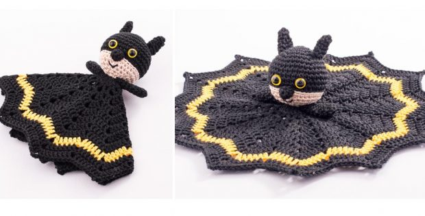 Crocheted Caped Crusader Blankie | thecrochetspace.com