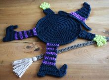 Crocheted Witch Table Coaster | thecrochetspace.com