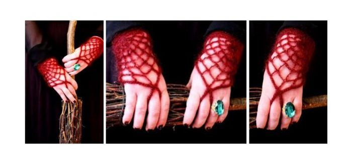 Morticia Adams Crocheted Gloves | thecrochetspace.com