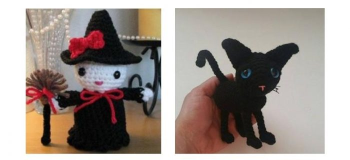 Hello Kitty Crochet Witch | thecrochetspace.com