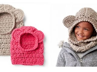 Crochet Winter Bear Hood | thecrochetspace.com