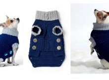 Charming Crochet Dog Coat | thecrochetspace.com