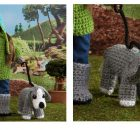 Dog Walking Crochet 18'' Doll | thecrochetspace.com