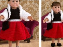 18'' Crocheted Party Doll | thecrochetspace.com
