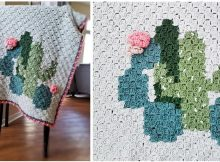 Clustered Cactus Crochet Blanket | thecrochetspace.com