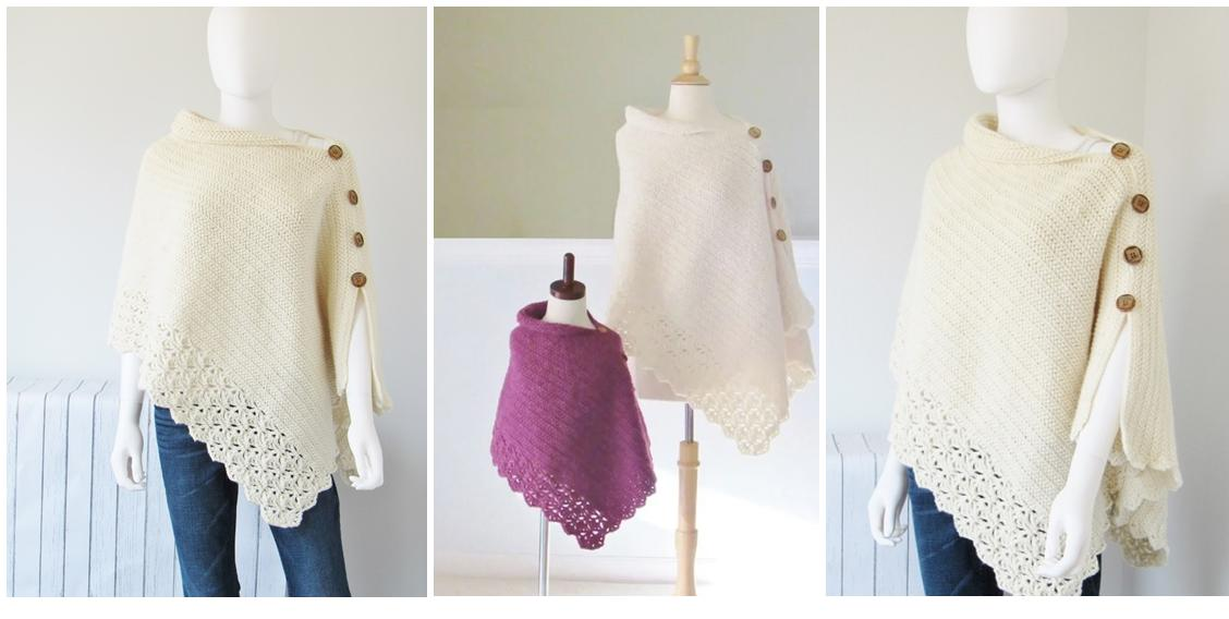 Uptown Girl Crochet Poncho | thecrochetspace.com