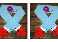 Crocheted Peanuts Snoopy Scarf | thecrochetspace.com