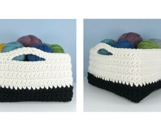 All-Size Square Crochet Basket ¡ thecrochetspace.com