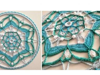 Crocheted Whisper Dream Catcher | thecrochetspace.com
