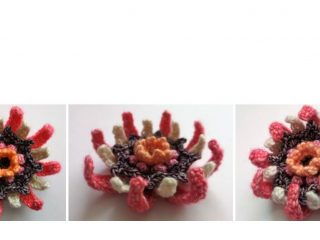 Floral Party Crocheted Flower | thecrochetspace.com