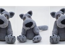 Crocheted Sweet Puppy Dog | thecrochetspace.com