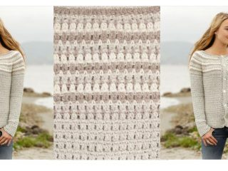 Misty Mountain Crocheted Cardigan | thecrochetspace.com
