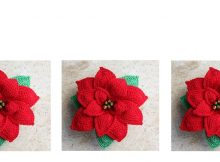 Perfect Poinsettia Crochet Flower | thecrochetspace.com
