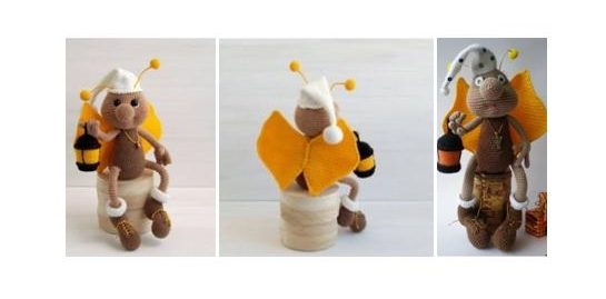 Crocheted Friendly Firefly Fred | thecrochetspace.com