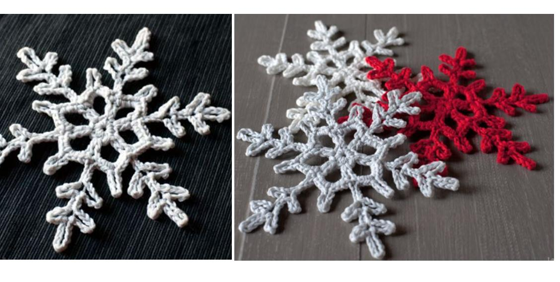 Crocheted Snowflake Accent Pattern | thecrochetspace.com
