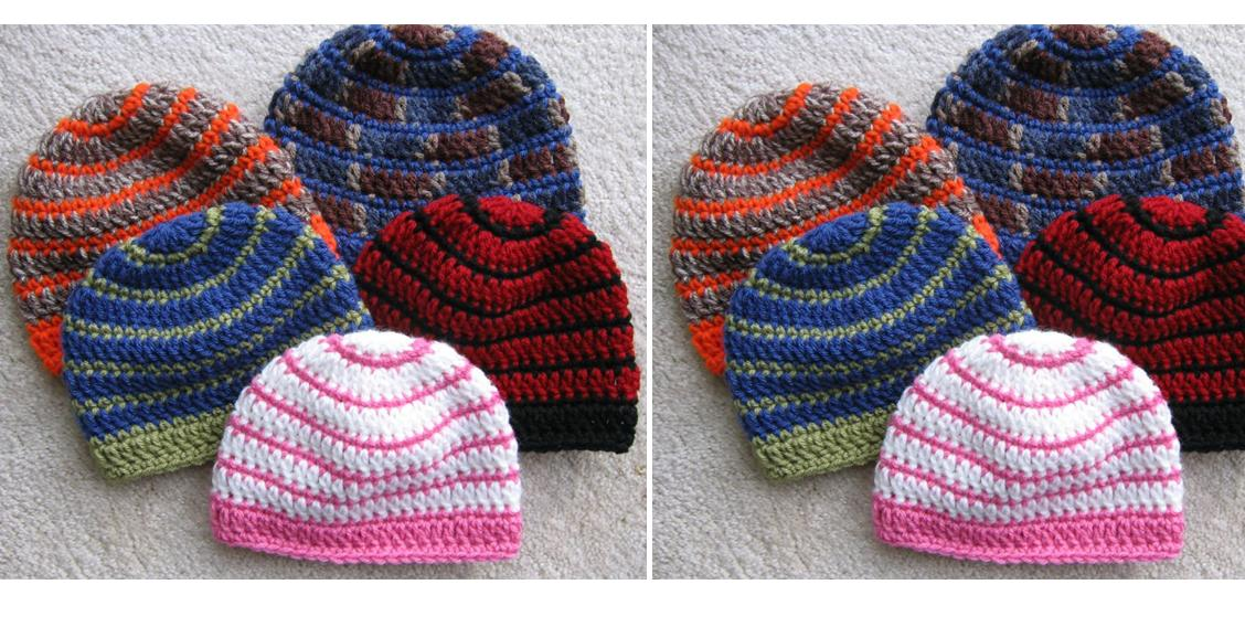 Easy Striped Crocheted Beanie | thecrochetspace.com