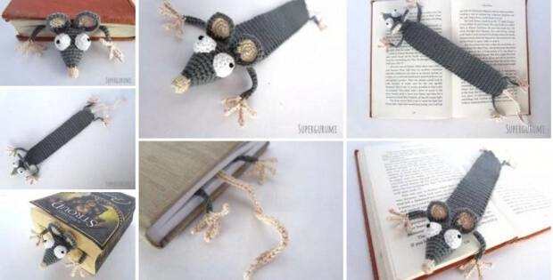 crocheted rat bookmark | the crochet space