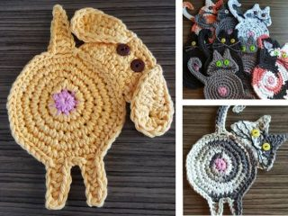 dog butt coasters | the crochet space