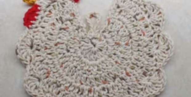 Delightful Crochet Chicken Potholder Free Video Tutorial