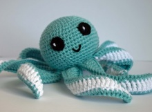 crochet baby octopus toy | the crochet space