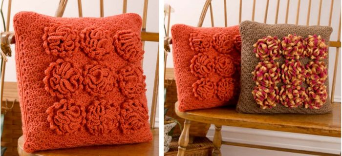 crochet dahlia pillow | the crochet space