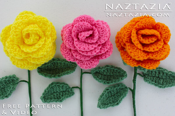 crocheted rose bouquet | the crochet space