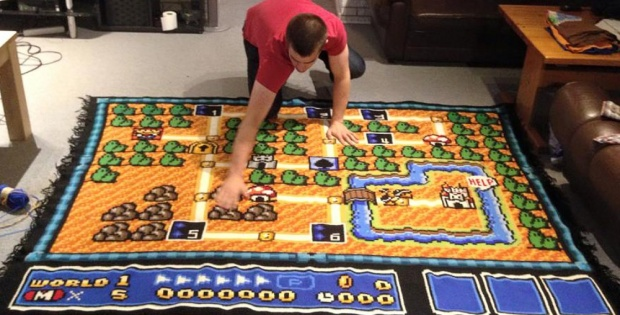 Crochet Super Mario blanket | the crochet space