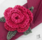 crochet flower napkin rings | the crochet space