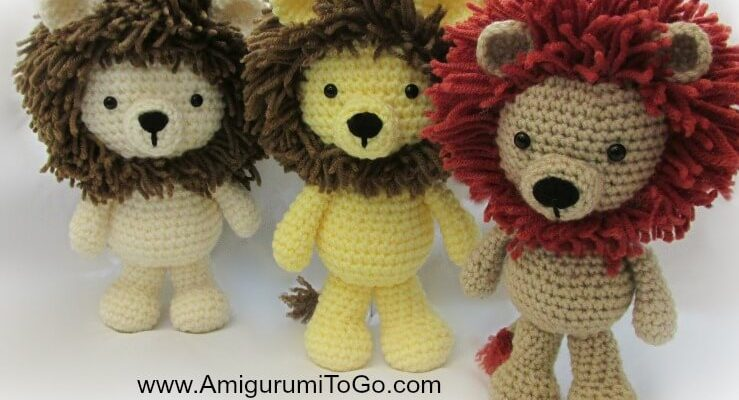 Crochet Amigurumi Lion [FREE Pattern + Video Tutorial]