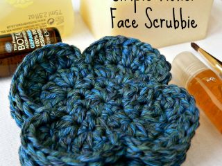 crochet simple flower scrubbies | the crochet space