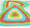 crochet triangle dishcloth | the crochet space