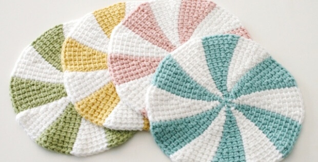 Tunisian Crochet Shaker Dishcloths Free Pattern Video Tutorial