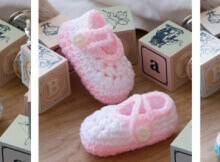 crochet two-color baby booties | the crochet space