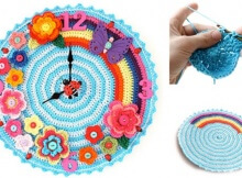 fun crocheted clock | the crochet space
