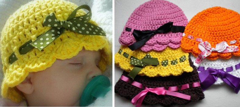 Crochet Baby Flapper Hat Free Crochet Pattern