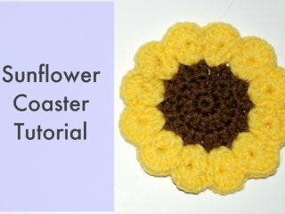 crochet sunflower coasters | the crochet space
