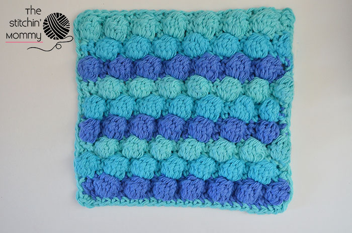 crochet little bubbles dishcloth | the crochet space