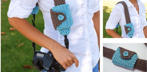 crochet camera strap and lens cover pouch | the crochet space