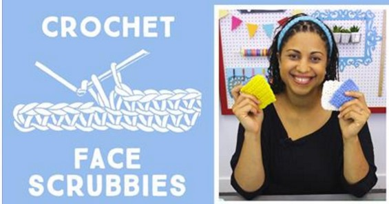 crochet face scrubbies | the crochet space