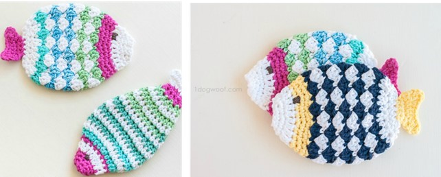 crochet fish scrubbies | the crochet space