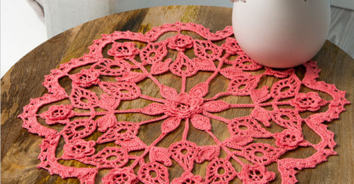 exquisite crochet flower doily | the crochet space