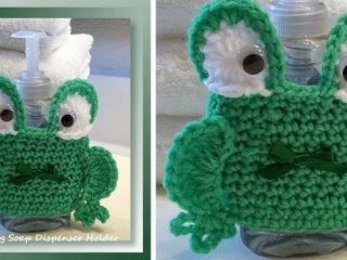 crochet frog soap dispenser holder | the crochet space