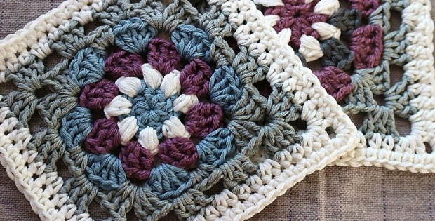 Crochet Lily Pad Granny Square Free Crochet Pattern